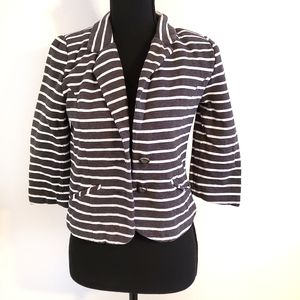 ♡ Express size small gray striped jacket